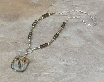 Gemstone Necklace with Picasso Jasper