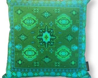 Green velvet cushion cover EMERALD GREEN