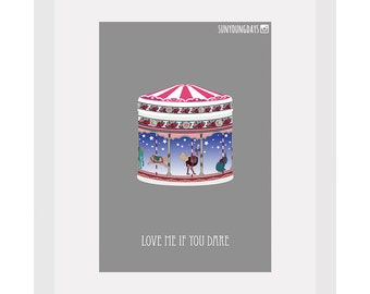 love me if you dare movie poster postcard 4'X6'