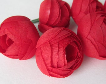 Red Buds /  Flower Head / Millinery Supply / Artificial flower / Mini flower Bud