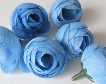 Blue Flower Buds /  Flower Head / Millinery Supply / Artificial flower / Mini flower Bud