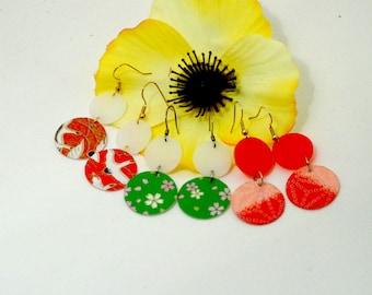 Japanese-Inspired Dangle Earrings