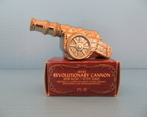 Old Avon Bottle Revolutionary Cannon with box 1975-76