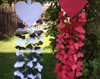 Heart Mobile - Valentine's Day Decoration - Wedding Decoration - Paper Heart Mobile
