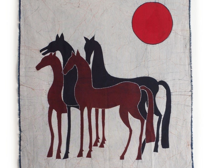 Horse - Batik Tapestry Wall Decor Painting