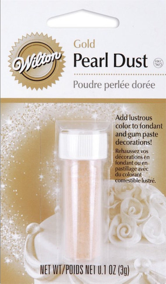Gold Pearl Dust Wilton Edible Accents edible pearl dust
