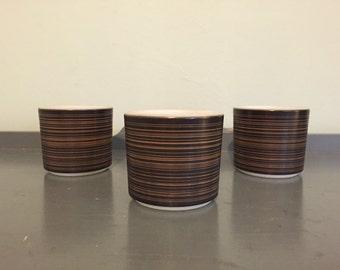Three Pyrex Terra 13 oz. Handless Mugs