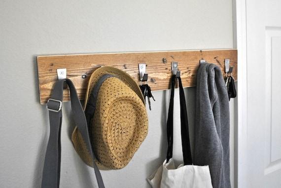 Distressed Wood Coat Rack Coat Hooks Hat Rack Key Hooks