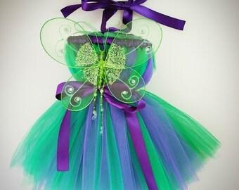 Tinkerbell Costume, Tinkerbell Dresses, Green Fairy Tutu Dress with Wings, Tinkerbell Tutu, Fairy Princess Tutu, Fairy Toddler, Halloween