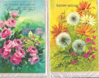 Vintage Greeting Cards Unused, Birthday Cards, Retro Birthday Cards, Vintage Birthday Cards, Happy Birthday Cards, Unopened Cards, New Old