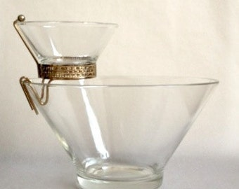 Retro Chip and Dip set by Anchor Hocking
