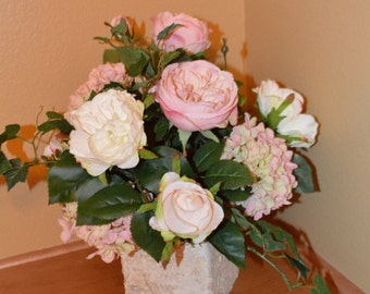 Wedding centerpiece, Tabletop Centerpiece, Rose Centerpiece, Reception Centerpiece