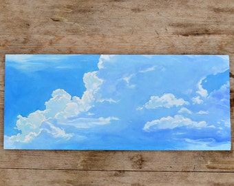 Silver Lining Cloud Oil Painting