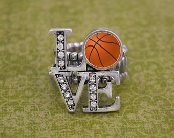 LOVE Basketball Stretchy Ring