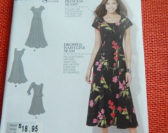 Simplicity 1537 Misses Womens Amazing Fit Dress Sewing Pattern Brand New Uncut Sizes 10-18