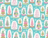 Snowglobe Tree Fabric - Snowglobe Forest in Blue by Blend Fabrics - 1/2 Yard