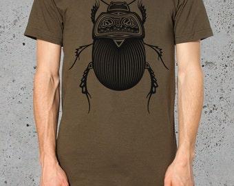 Bug Insect T Shirt Beetle T-shirt__Boyfriend Gift//()~ American Apparel TShirt- Mens Graphic Tee Clothing