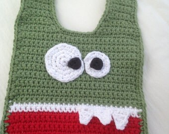 Hand Crocheted Monster Bibs