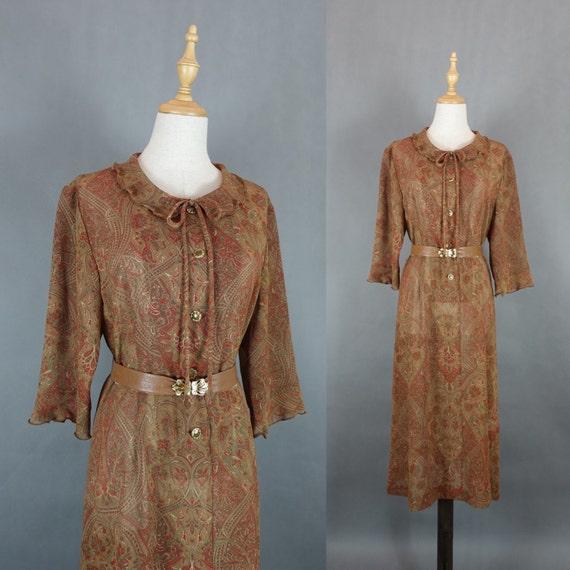 clearance sale 1970s vintage summer dress indian pattern