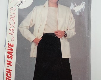 Office suit/conservative /womens/80s/ Jacket skirt / 1983 vintage sewing pattern, Sizes 14 16 18, Bust 36 38 40, McCalls Stitch 'N Save 8638