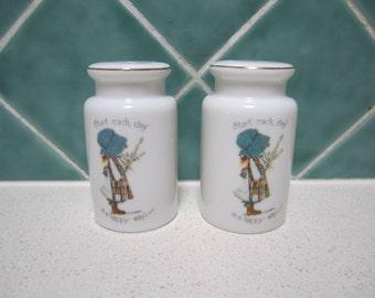 Vintage Holly Hobbie Salt and Pepper Shakers