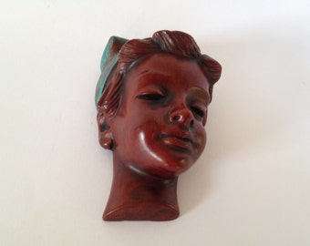 Achatit Schirmer Vintage  Wall Mask , from the 1960s / 1970s by Hans Schirmer. - West Germany