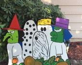 Charlie Brown Halloween- Peanuts Halloween- Snoopy Halloween- Halloween Cutout- Wood cutout Charlie Brown- Halloween Yard Decor- Handmade