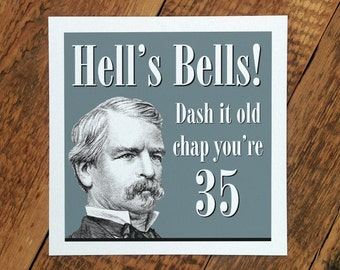 35th Birthday Card; 35 Card For Him; 35th Card For Men; You're 35; 35th Card For Husband; GC086
