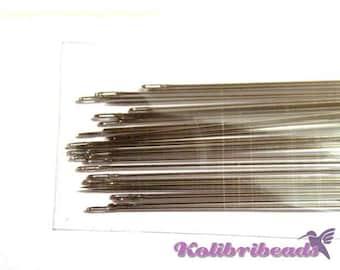 1x 34 Extra Long Steel Beading Needles 10 cm