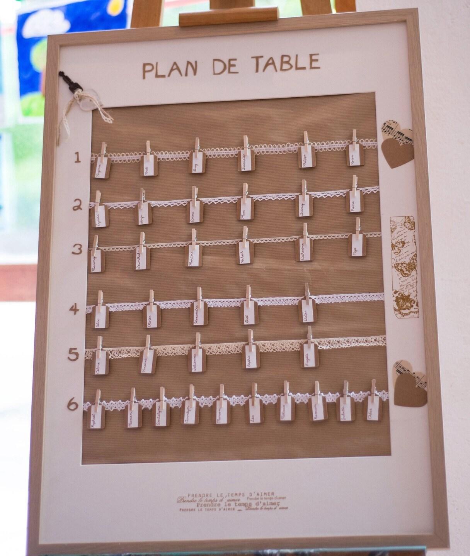 plan de table mariage champ tre chic format xl 52 x 72cm. Black Bedroom Furniture Sets. Home Design Ideas