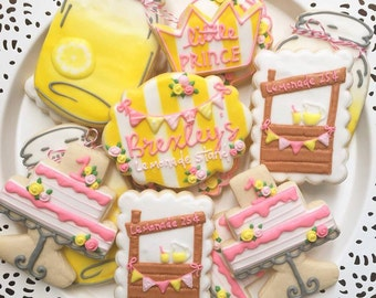 Lemonade Stand Cookies / Lemonade Stand Party