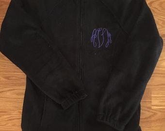 Monogrammed Fleece Full Zip Jacket