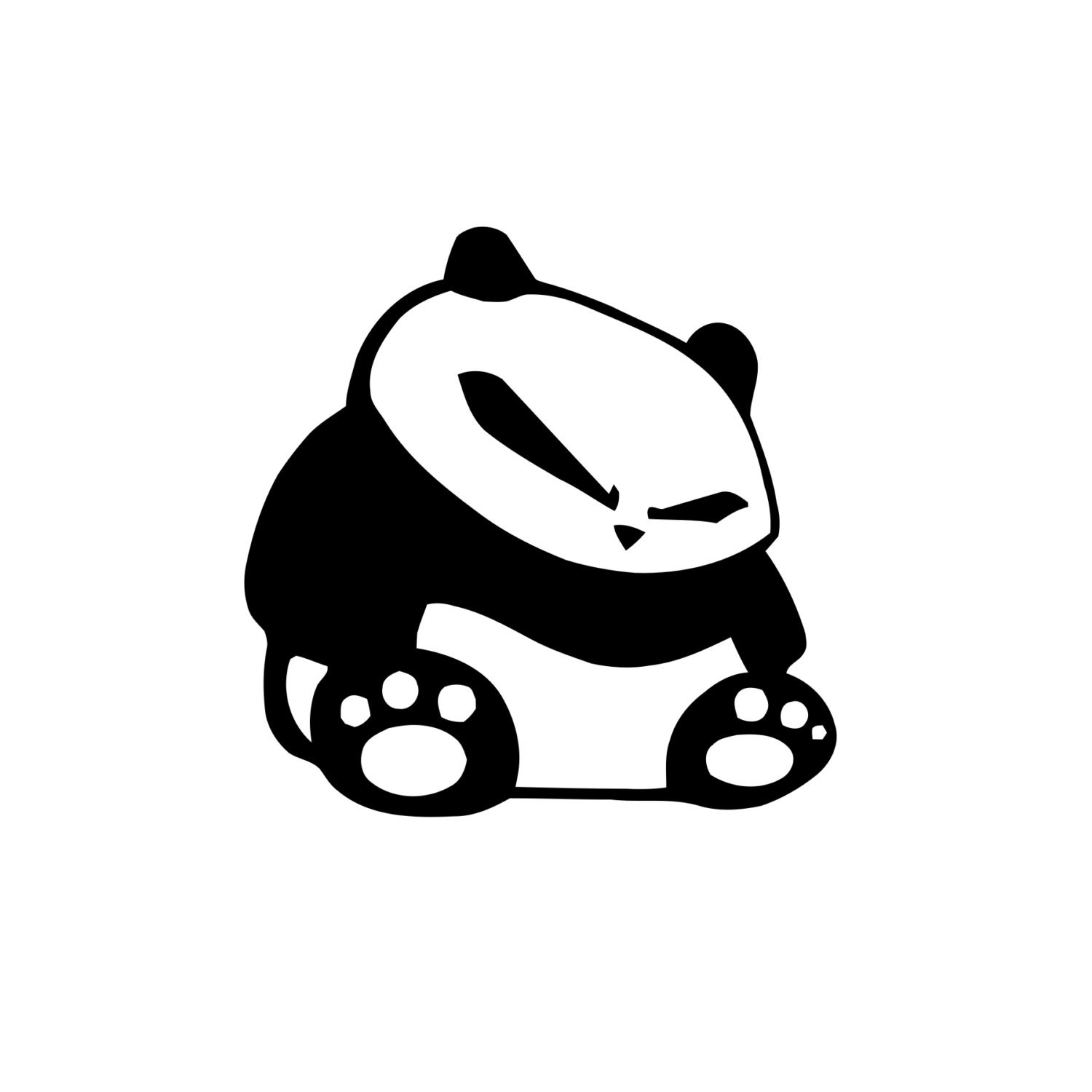 Banksy panda with guns sticker truck stickers logos and vinyl -  Zoom