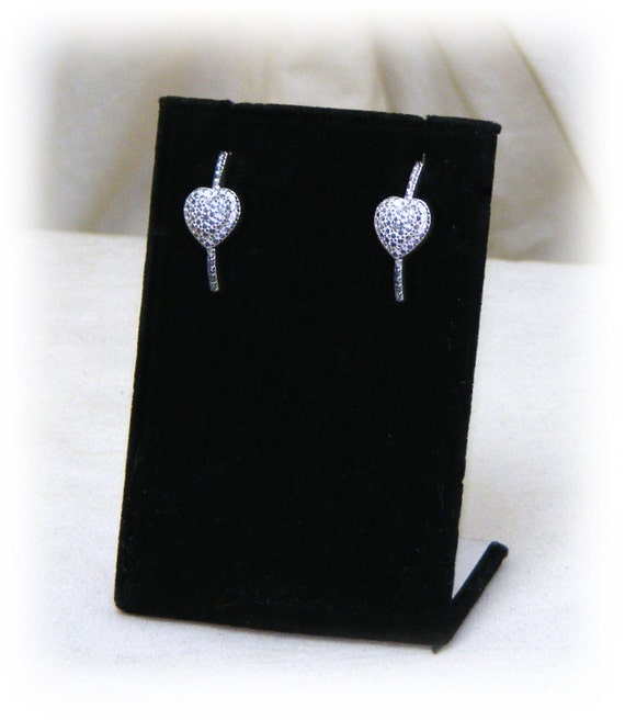 STAINLESS STEEL EARRINGS . .  Plus Crystal, pierced earrings, never worn