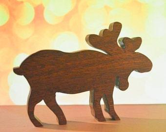 Mahogany Moose  Wooden Cutout
