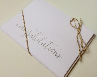 Hand Lettered Custom Calligraphy Congratulations Cards