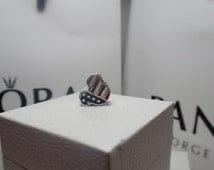 Authentic Pandora Mickey Mouse American// new charm/  Includes Pandora Disney Hinged Box