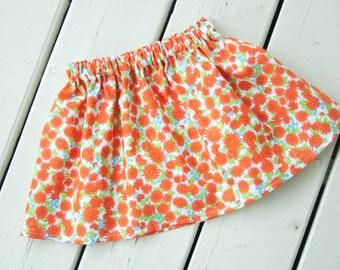 Orange Daisy Skirt - You Choose Size