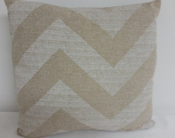 Ivory  pillow cover, Decorative throw  pillow, Chevron pillow cover, Shower gift,  Zig Zag  Pillow Cover, Ivory chevron pillow cover