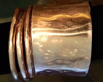 Copper cuff bracelet, Wide Copper bracelet, women's copper bracelet, copper jewelry, fall color jewelry, cuff bracelet