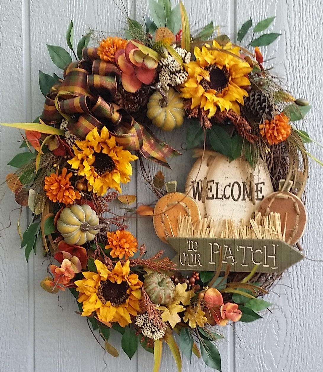 Fall Wreath Fall Grapevine Wreath Autumn Wreath