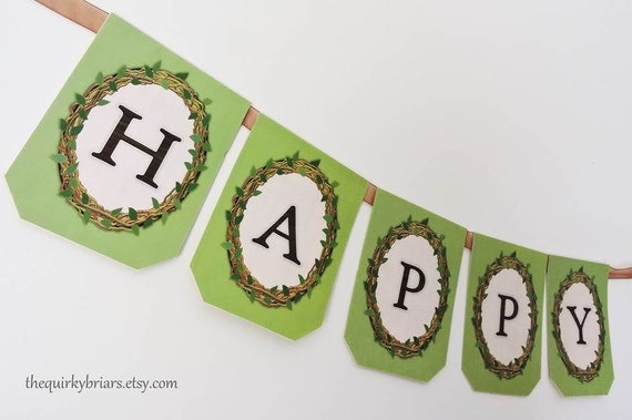 Garden / Rustic / Country Themed / Happy Birthday Bunting