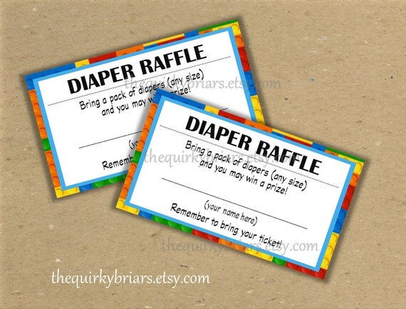 Printable Diaper Raffle Tickets Baby Shower Games Baby Boy