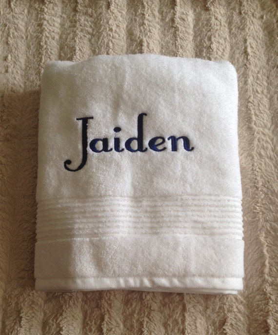 Embroidered Towels Custom: Personalized Bath Towel Custom Embroidered By GiftsSimplify
