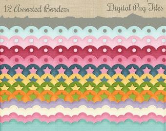 Commercial Use Border Png Digital Scrap Elements