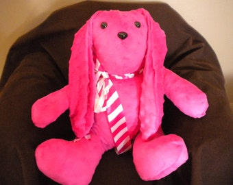 Pink Spotted Stuffed Rabbit