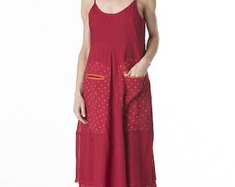 roshanara dress Rosa raspberry lovely dots