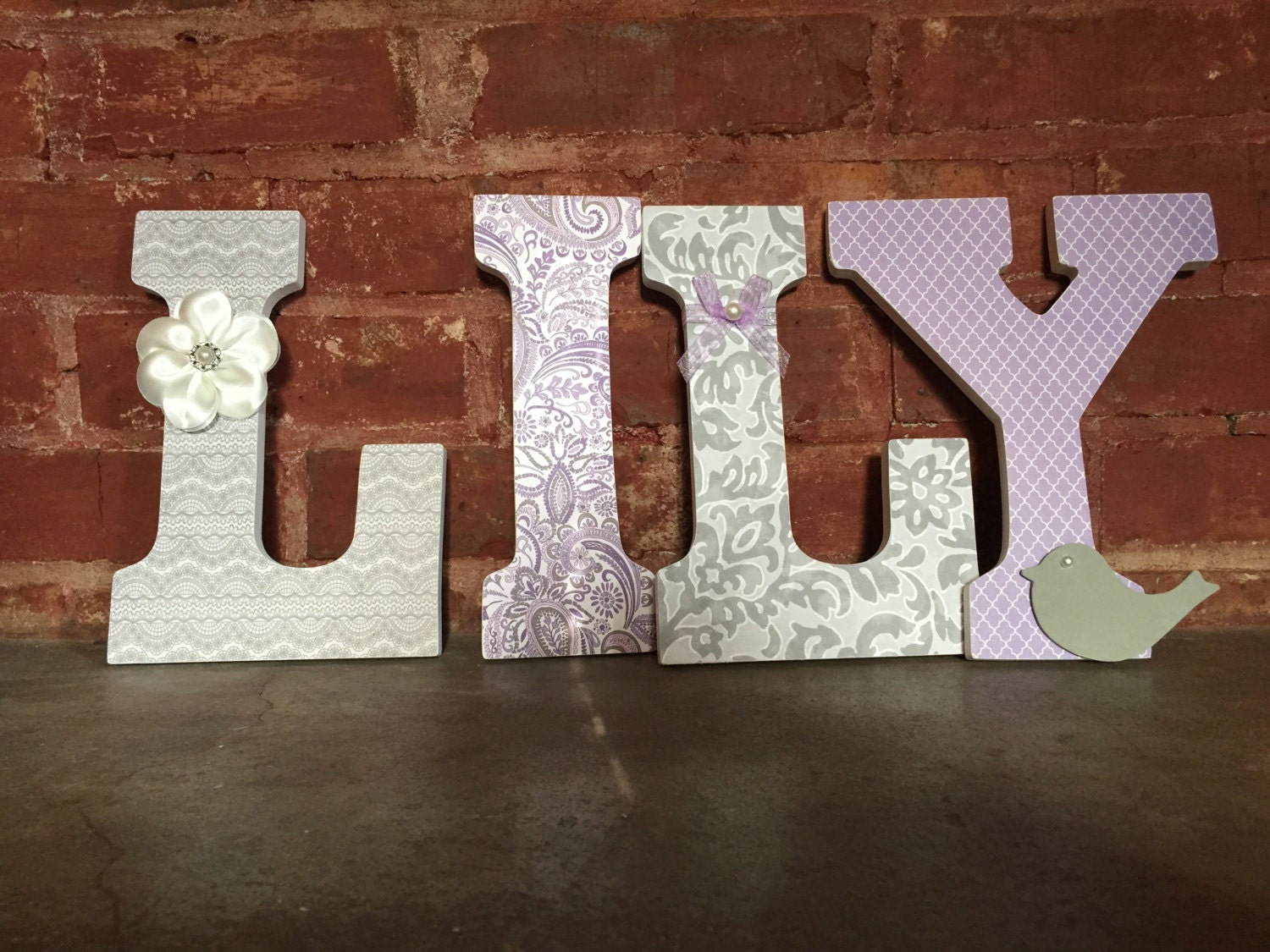 custom decorative wooden letters nursery decor girls room