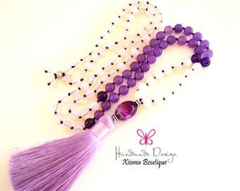 108 Mala Beads – Mala Necklace – Prayer Beads – Yoga Jewelry – Meditation –Buddhist Prayer Beads