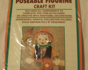 Vintage Poseable  Figurine Craft Kit